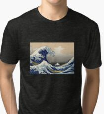 'The Great Wave Off Kanagawa' by Katsushika Hokusai (Reproduction) Tri-blend T-Shirt