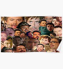robert downey jr. collage Poster
