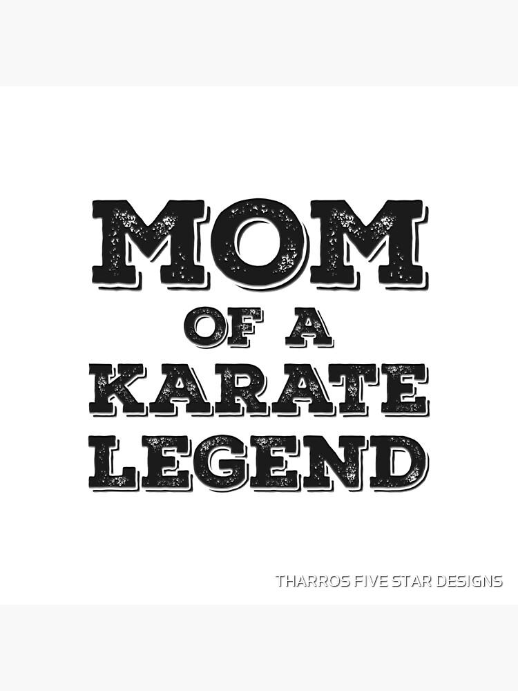Karate Mom Of Son Daughter Child Karateka Blackbelt Mother's Day Gift von kalamiotis13