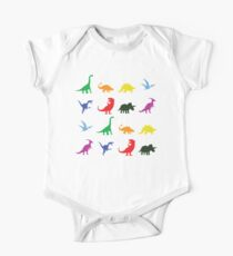 Colourful Dinosaurs Pattern One Piece - Short Sleeve