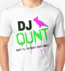 DJ Qunt Party bis in die Nacht geht Crikey Slim Fit T-Shirt
