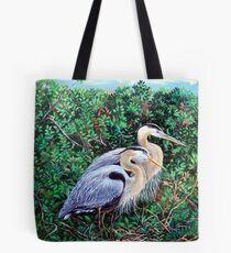 Morning Refuge-Great Blue Heron Tote Bag
