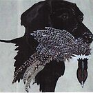 Black Lab with prize by cdcantrell