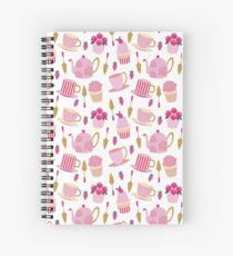 POSH AFTERNOON TEA PATTERN Spiral Notebook