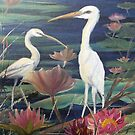 Herons Resting by Vickyh