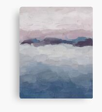 Plum Purple Lavender Blue Abstract Art Modern Painting Canvas Print