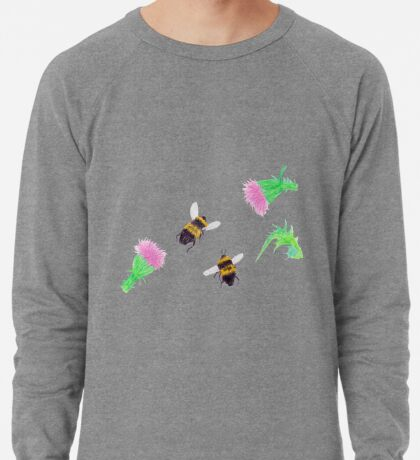 Bumblebees and Thistles Lightweight Sweatshirt