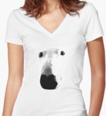 Bull Terrier Face Tee Women's Fitted V-Neck T-Shirt