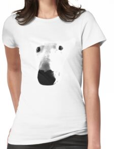 Bull Terrier Face Tee Womens Fitted T-Shirt