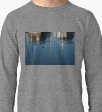 Young Red-Necked Grebe on Silver Lightweight Sweatshirt