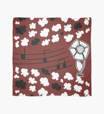 Singing Clouds with Monochrome Flower Scarf