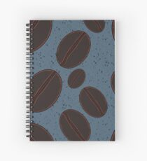 Coffee Beans with Blue Background Spiral Notebook