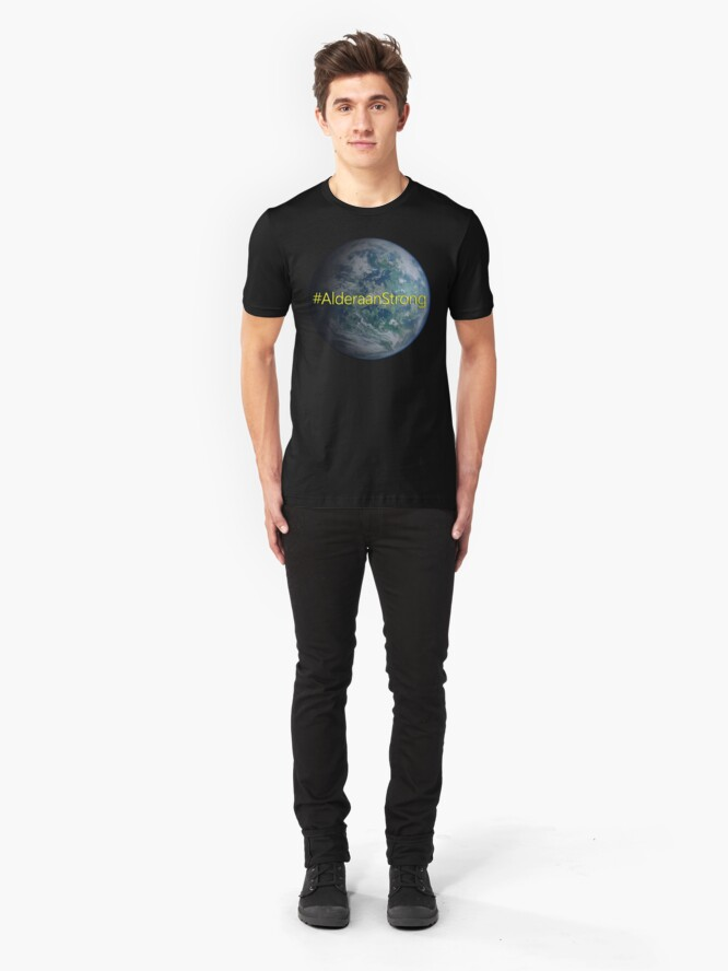 Alternate view of Alderaan Strong Slim Fit T-Shirt