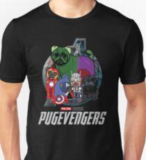 Pugvengers , Funny Pug Dog Gift Slim Fit T-Shirt