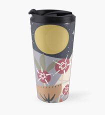 Star Field Meadow Floral Illustration Travel Mug