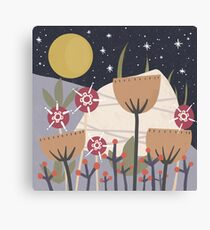 Star Field Meadow Floral Illustration Canvas Print