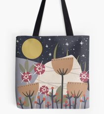 Star Field Meadow Floral Illustration Tote Bag