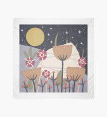 Star Field Meadow Floral Illustration Scarf