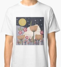 Star Field Meadow Floral Illustration Classic T-Shirt
