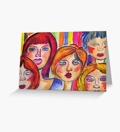 Girls Greeting Card