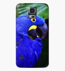 Eleganter Hyazinthen-Ara Hülle & Klebefolie für Samsung Galaxy