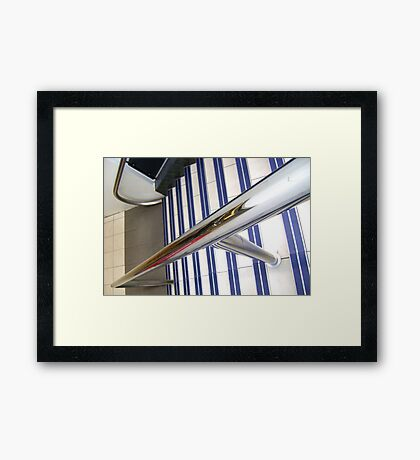 Abstract, stairs & rail Framed Print
