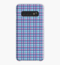 Madras - blue, purple, pink, white Case/Skin for Samsung Galaxy