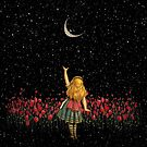 «Wonderland Smiling Starry Night - Alicia en el país de las maravillas» de maryedenoa