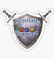 Classically Trained D&D Tee Sticker