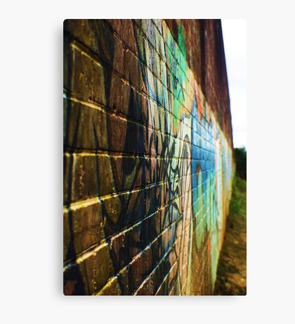 Writing on the Wall Canvas Print