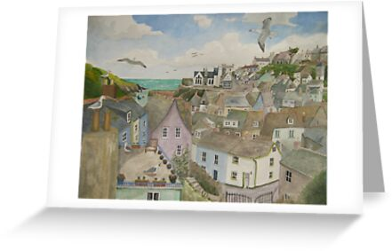 """""""A Crow's Nest View of Port Isaac, Cornwall"""" by Timothy Smith"""