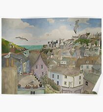 """""""A Crow's Nest View of Port Isaac, Cornwall"""" Poster"""