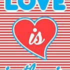 Love Is In The Air, typography poster, typography t-shirt, sticker, by Alma-Studio