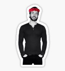 Chris Evans - Flowercrown Sticker