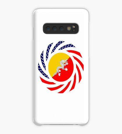 Bhutanese American Multinational Patriot Flag Series Case/Skin for Samsung Galaxy