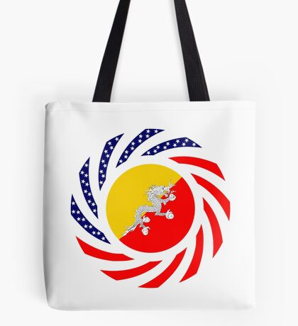 Bhutanese American Multinational Patriot Flag Series Tote Bag