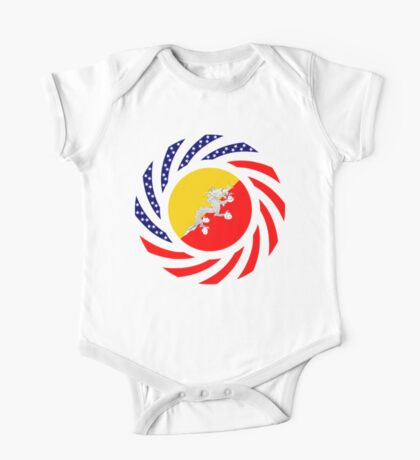 Bhutanese American Multinational Patriot Flag Series Kids Clothes