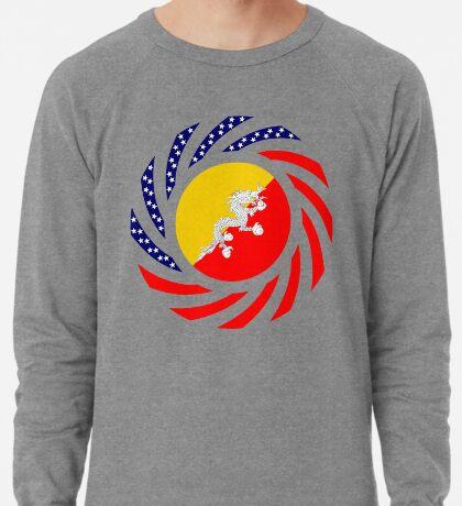 Bhutanese American Multinational Patriot Flag Series Lightweight Sweatshirt