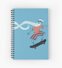 The Ancient Skater, Forever Skate ukiyo e style Spiral Notebook
