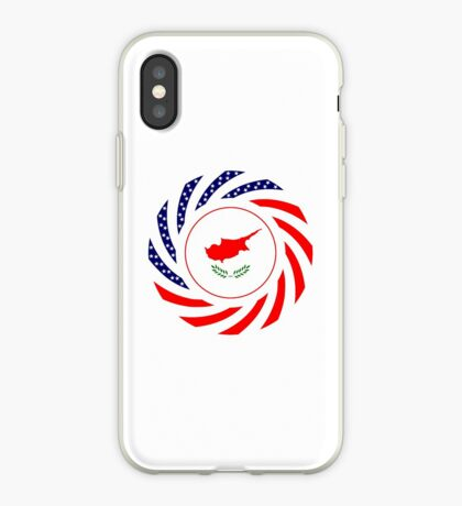 Cypriot American Multinational Patriot Flag Series iPhone Case