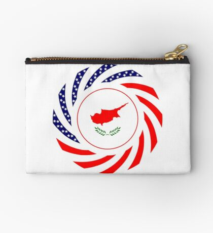 Cypriot American Multinational Patriot Flag Series Zipper Pouch