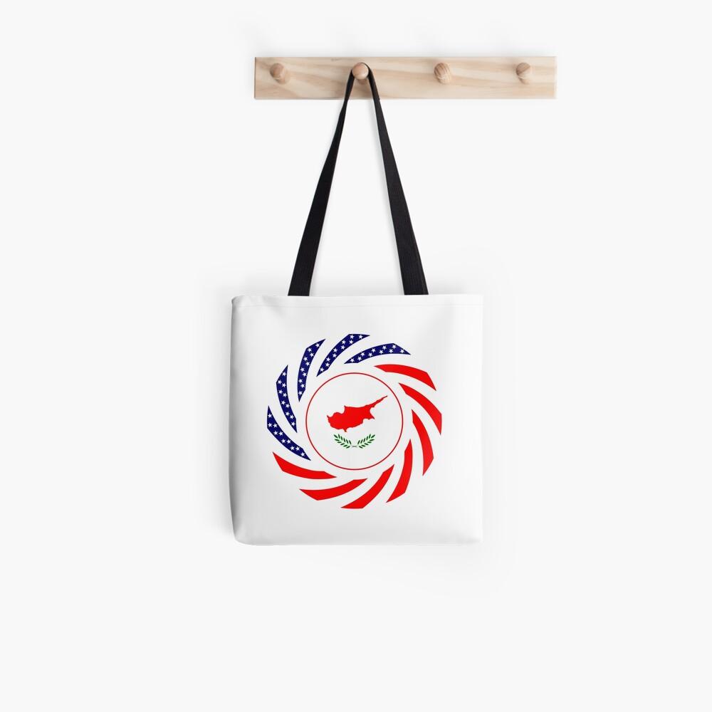 Cypriot American Multinational Patriot Flag Series Tote Bag