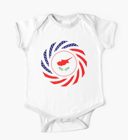 Cypriot American Multinational Patriot Flag Series Kids Clothes