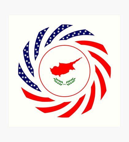 Cypriot American Multinational Patriot Flag Series Art Print