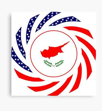 Cypriot American Multinational Patriot Flag Series Canvas Print