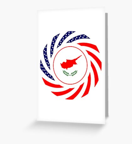 Cypriot American Multinational Patriot Flag Series Greeting Card