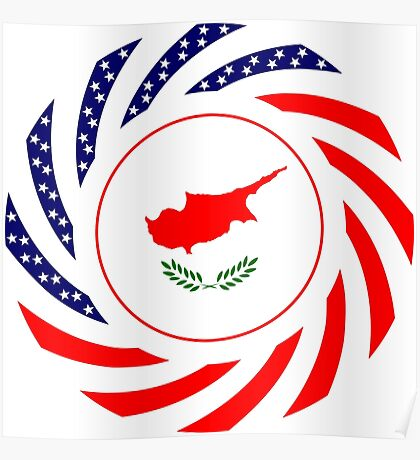 Cypriot American Multinational Patriot Flag Series Poster