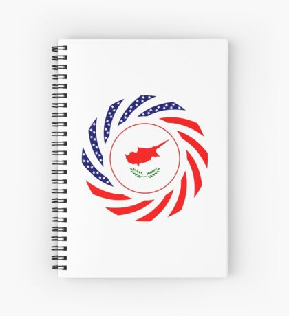 Cypriot American Multinational Patriot Flag Series Spiral Notebook