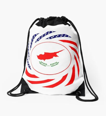 Cypriot American Multinational Patriot Flag Series Drawstring Bag