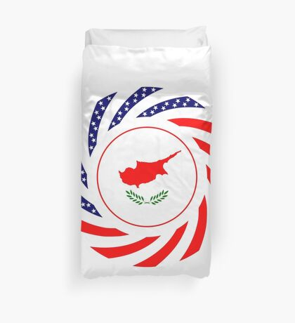 Cypriot American Multinational Patriot Flag Series Duvet Cover